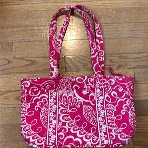Vera Bradley pink and white tote bag